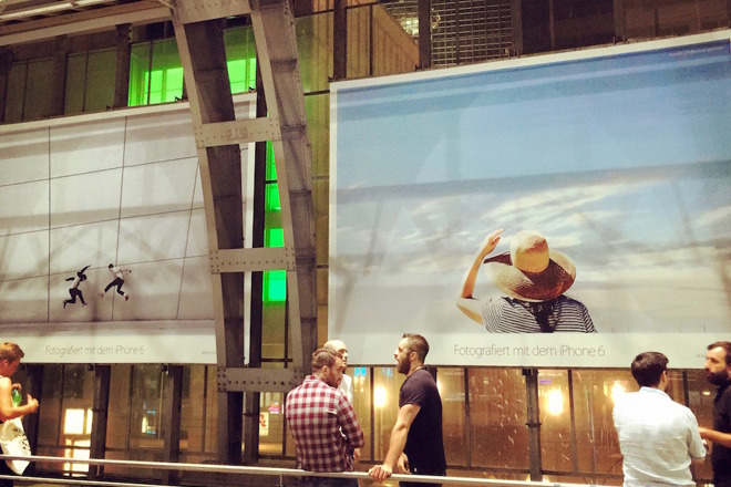 A previous Shot on iPhone campaign, as seen at Alexanderplatz, Berlin