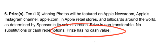 Not for you, it doesn't. It has a lot of cash value for Apple.
