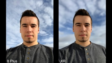 Comparing the self portraits you can produce on the iPhone 8 Plus and the iPhone XR