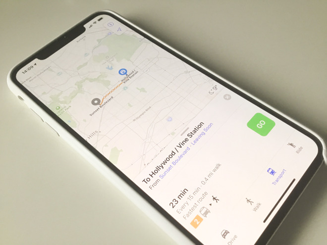 Using Apple Maps to navigate the LA Metro