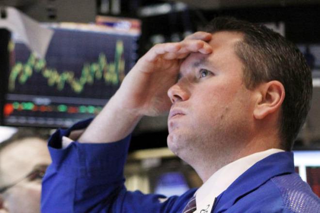 Worried stock broker