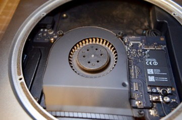 Three screws hold the fan in place