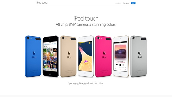 Apple's current iPod Touch lineup