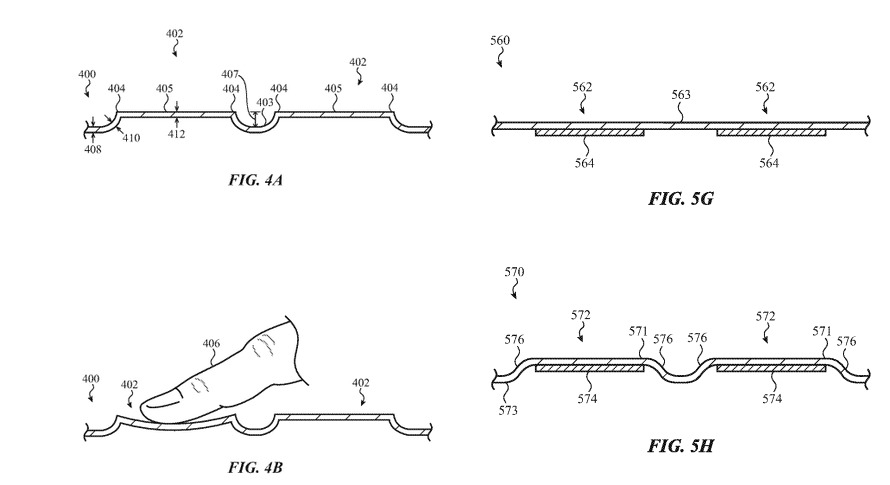 Images of the raised glass key concepts from the patent application