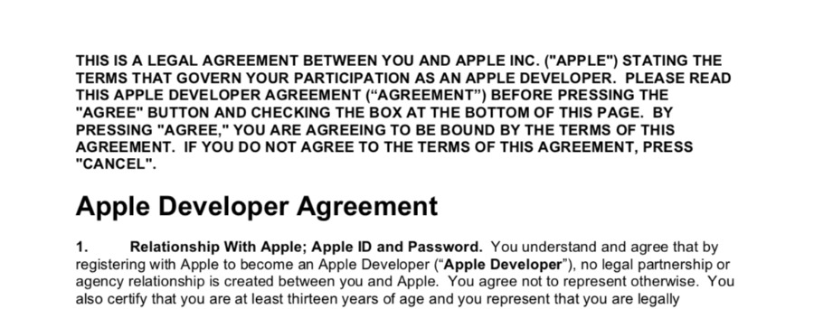 It's not as if Facebook could've mislaid its copy of Apple's terms and conditions