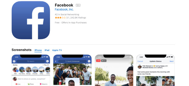 Facebook's public apps are unaffected