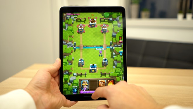 Clash Royale on an iPad Pro