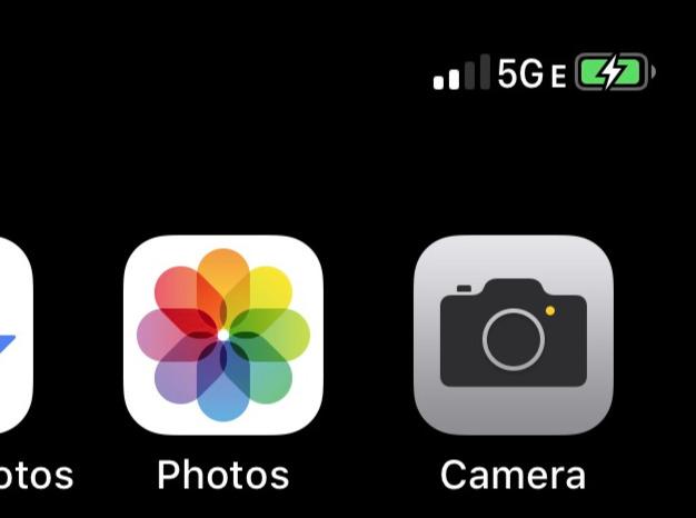 The 5G E connectivity logo (via u/JrB11784 on Reddit)