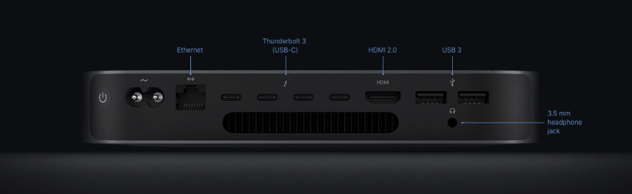 The 2018 Mac mini includes a HDMI port that's just right for connecting to your TV
