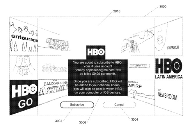 A subscription page for HBO