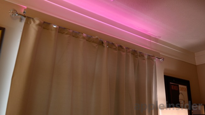 Eve Light Strip above curtans