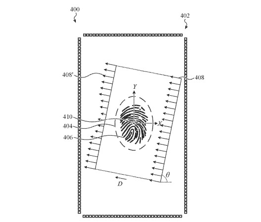 One version involves transducers surrounding the entire display area, potentially allowing for a more accurate scan by pinging from multiple sides.