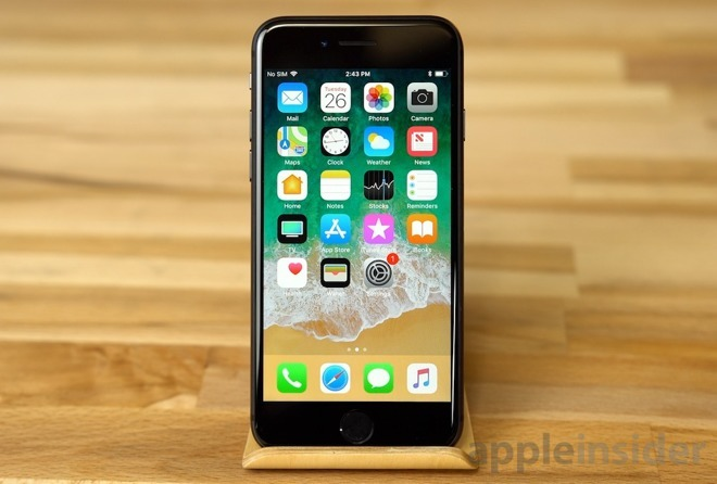 The iPhone 8, one of the devices banned from sale in Germany for infringing a Qualcomm patent.