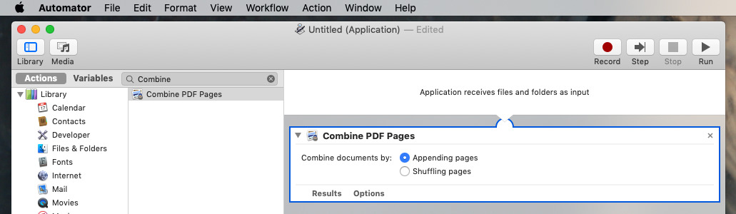 Combine multiple PDFs into one