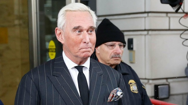 Roger Stone, following his appearance in federal court in Washington D.C.