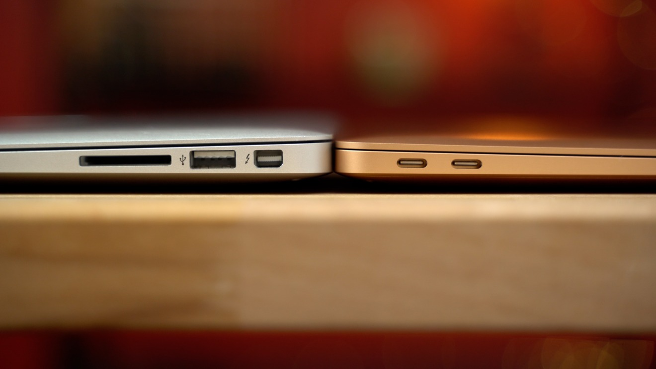 Comparing connectors on the two MacBook Air generations