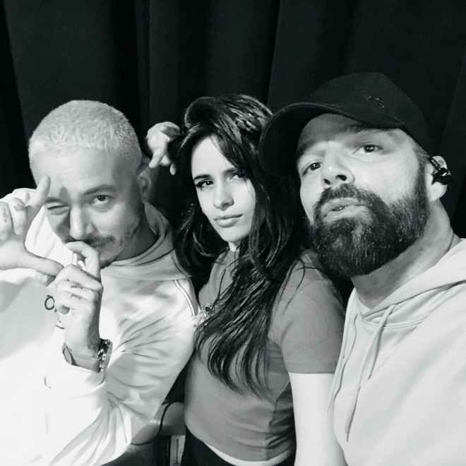 Grammy performers J Balvin, Camila Cabello, and Ricky Martin.