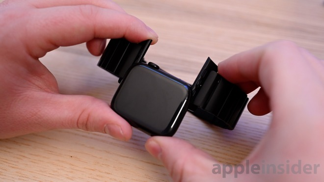 Nomad titanium Apple Watch band