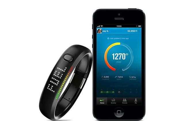 The Nike+ FuelBand, a precursor to the Apple Watch that offered quantified activity tracking