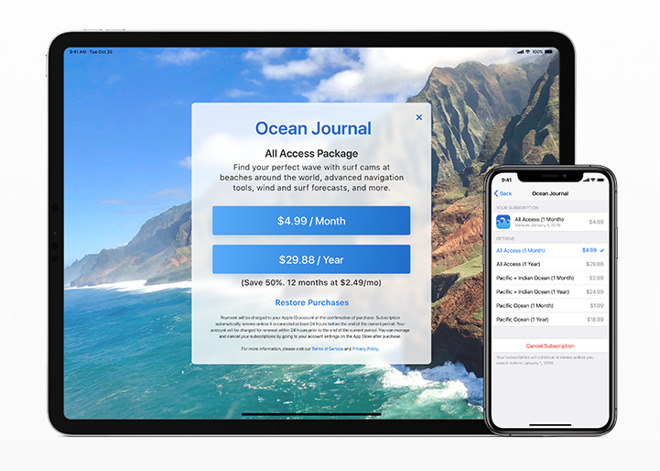 iOS 12 subscriptions