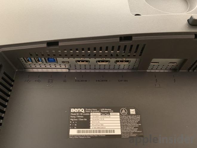 BenQ 4k Thunderbolt 3 monitor ports
