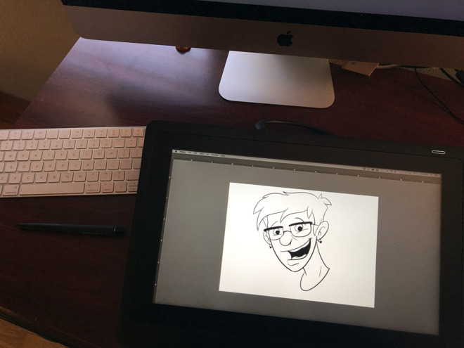 Cintiq 16 in use with a iMac 5K