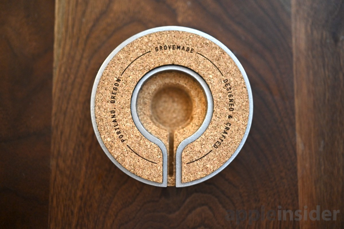 Grovemade Apple Watch charging dock bottom