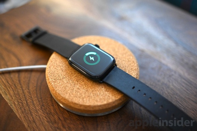 Grovemade Apple Watch charging dock charging