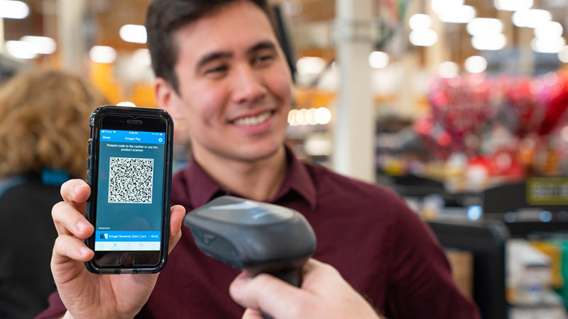 photo image Grocer Kroger launches QR code-based payment service, snubs Apple Pay