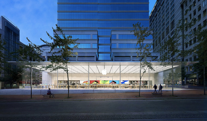 The Apple Store in downtown Portland