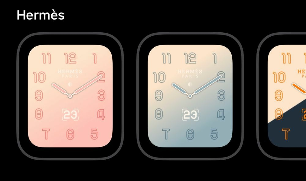 e4d0e6ba17f8 Apple adding new gradient watch faces for Apple Watch Hermes in ...