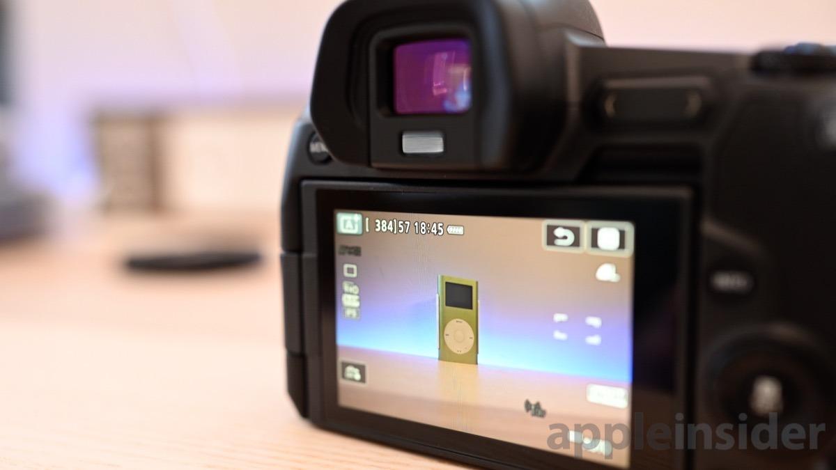 Canon EOS R display