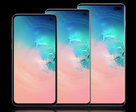 The Samsung Galaxy S10e, Galaxy S10, and Galaxy S10+