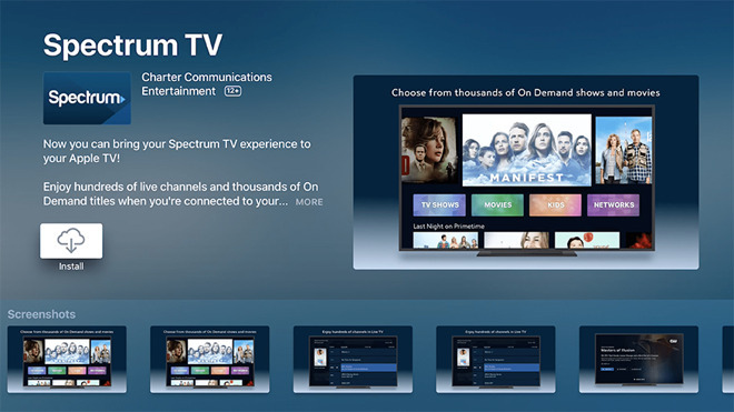 Charter Spectrum cable Apple TV
