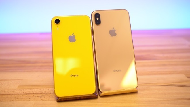The iPhone XR and the iPhone XS Max, launched just before the fourth quarter.