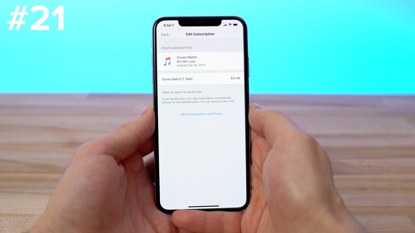 Reviewing active subscriptions on your iPhone