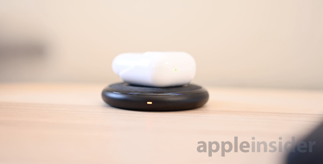AirPods wirelessly charging via HyperJuice