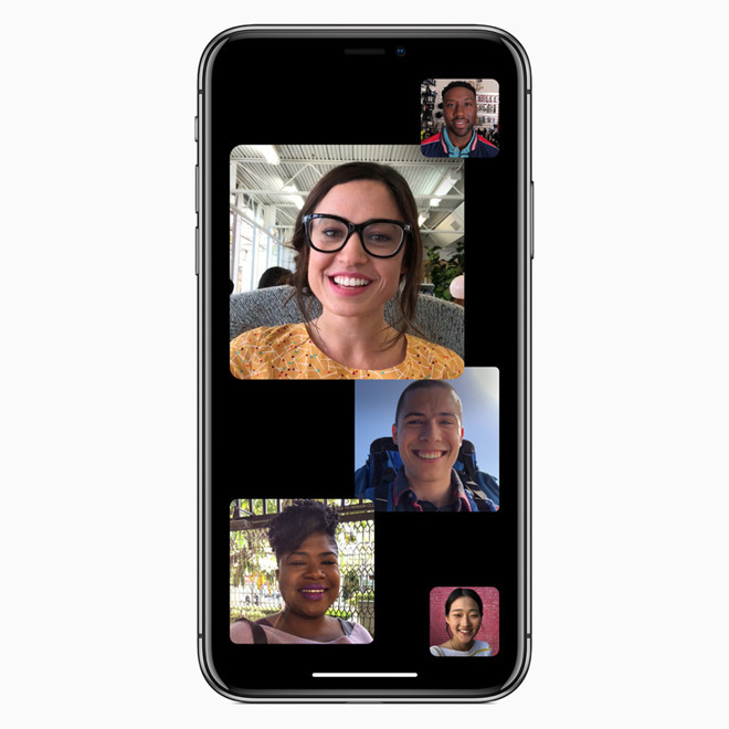 Group FaceTime, a recent feature addition to FaceTime