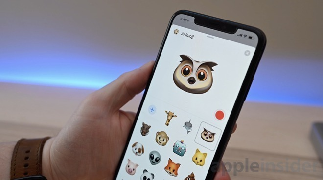 iOS 12.2 introduces four new Animoji characters.