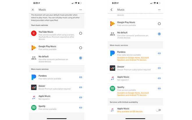 Apple Music option in Google Home app for iOS stirs rumors of coming