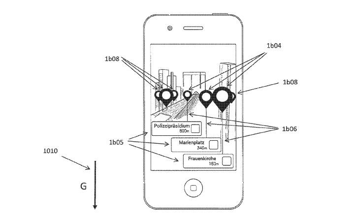 An illustration of an AR overlay on an iPhone