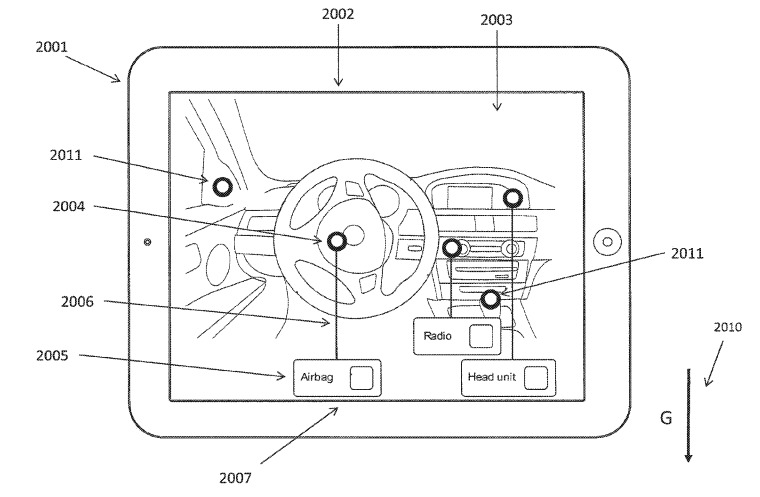 Illustrating how an iPad could be used to show features of a car in AR