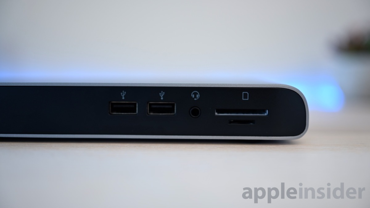 Elgato Thunderbolt 3 Pro Dock front-facing ports