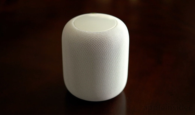 Apple's HomePod in white