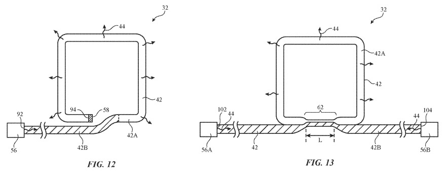 Two forms of fiber optic loops offered in the patent.