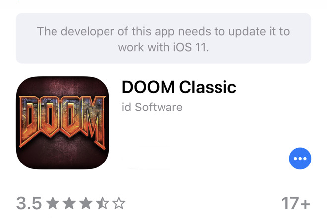 Even famous games like Doom need continual development to keep them working on newer iOS versions