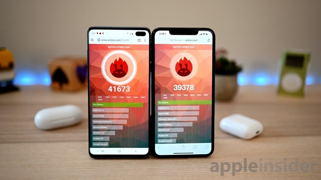 Samsung Galaxy S10+ and iPhone XS Max