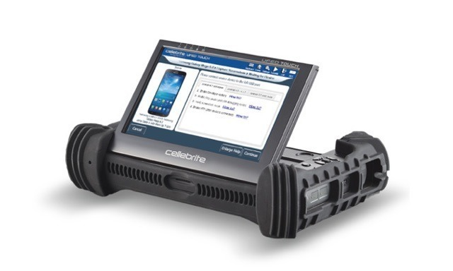 The Cellebrite Universal Forensic Extraction Device (UFED), an item that may have been created using hacks gleaned from a 'dev-fused' iPhone