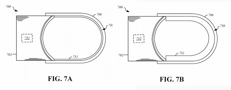 The inflating version of Apple's headband tensioning system