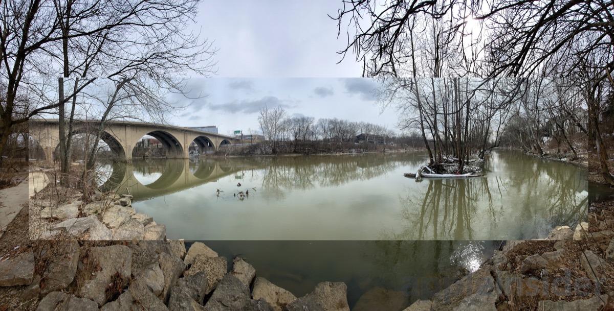 iPhone XS Max panorama over S10+ panorama